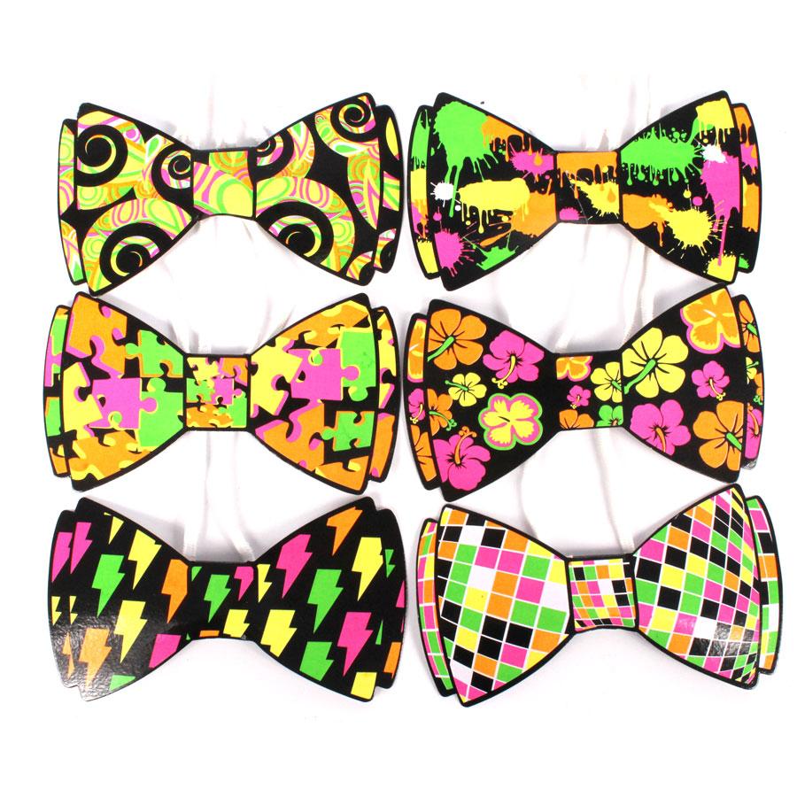 Gravata Borboleta Neon
