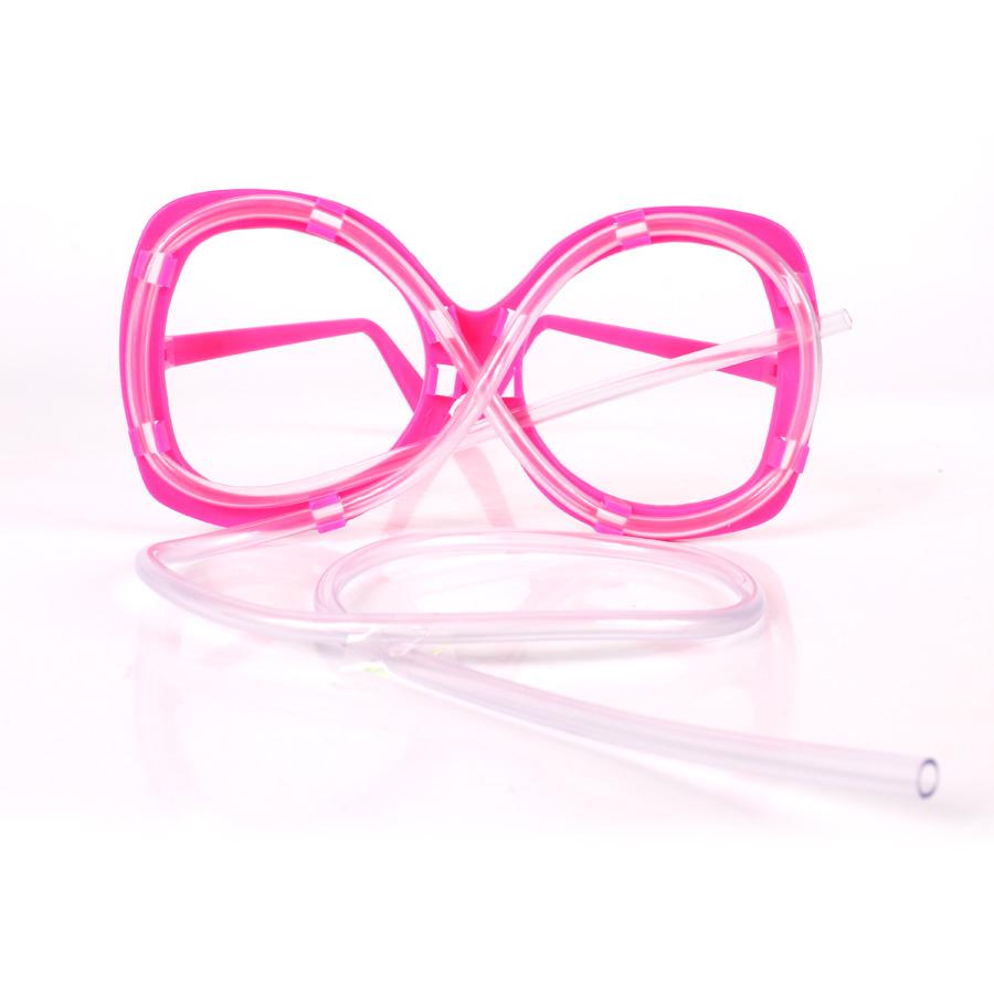 Kit 100 Óculos Canudo Estilo Chaves - Diversas Cores