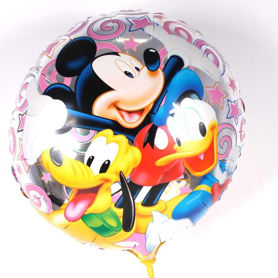 Kit 14 Balões Metalizados Redondo Mickey E Sua Turma