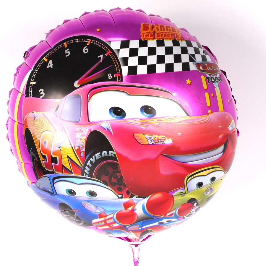 Kit 20 Balões Metalizados Carros - Desenho
