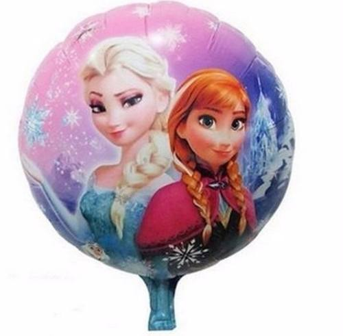 Kit 20 Balões Metalizados Frozen Ana E Elsa - Pronta Entrega
