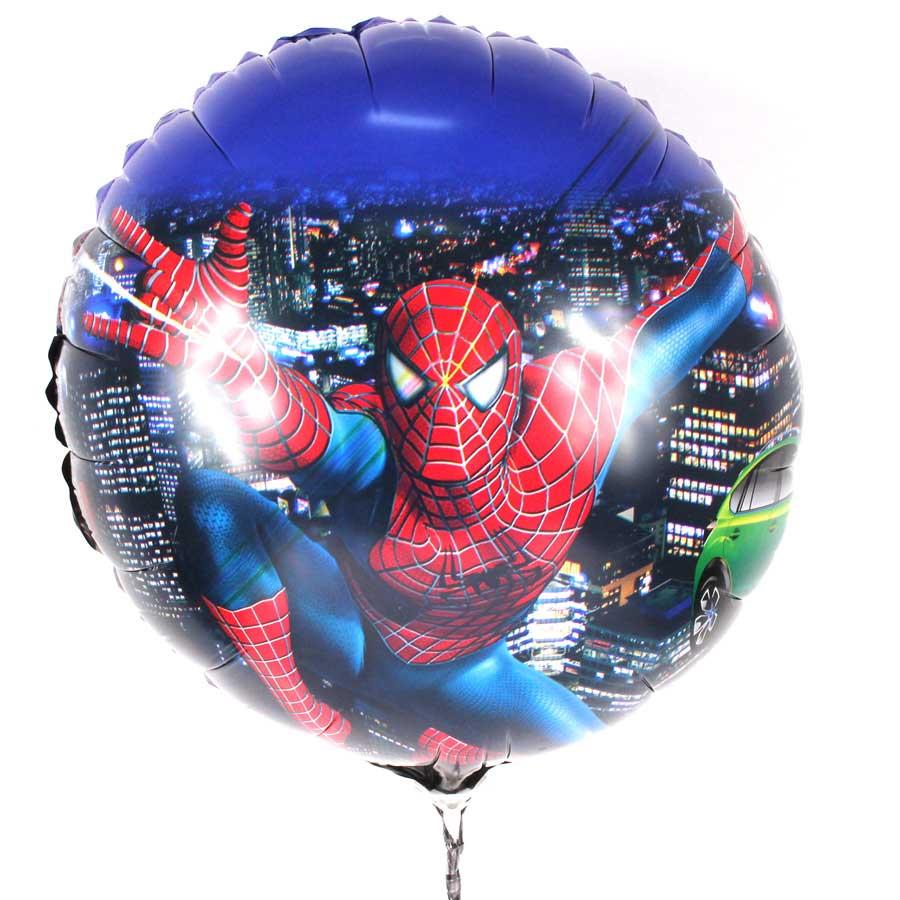 Kit 25 Balões Metalizados Homem Aranha - Spider Man