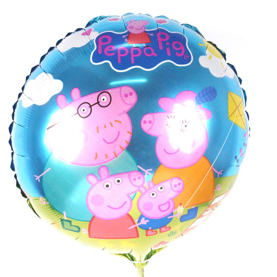 Kit 35 Balões Metalizados Peppa Pig + 40 Varetas Pega Balão