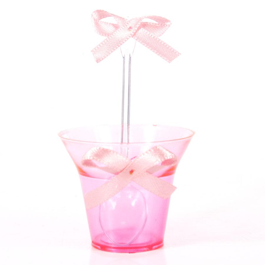 Kit Copinho Pink Laço Rosa 10Un