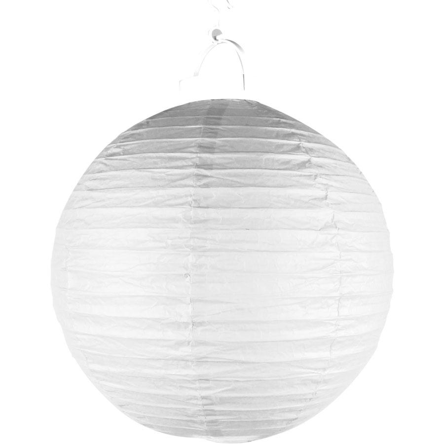 Luminária Com Luz De Papel Branca