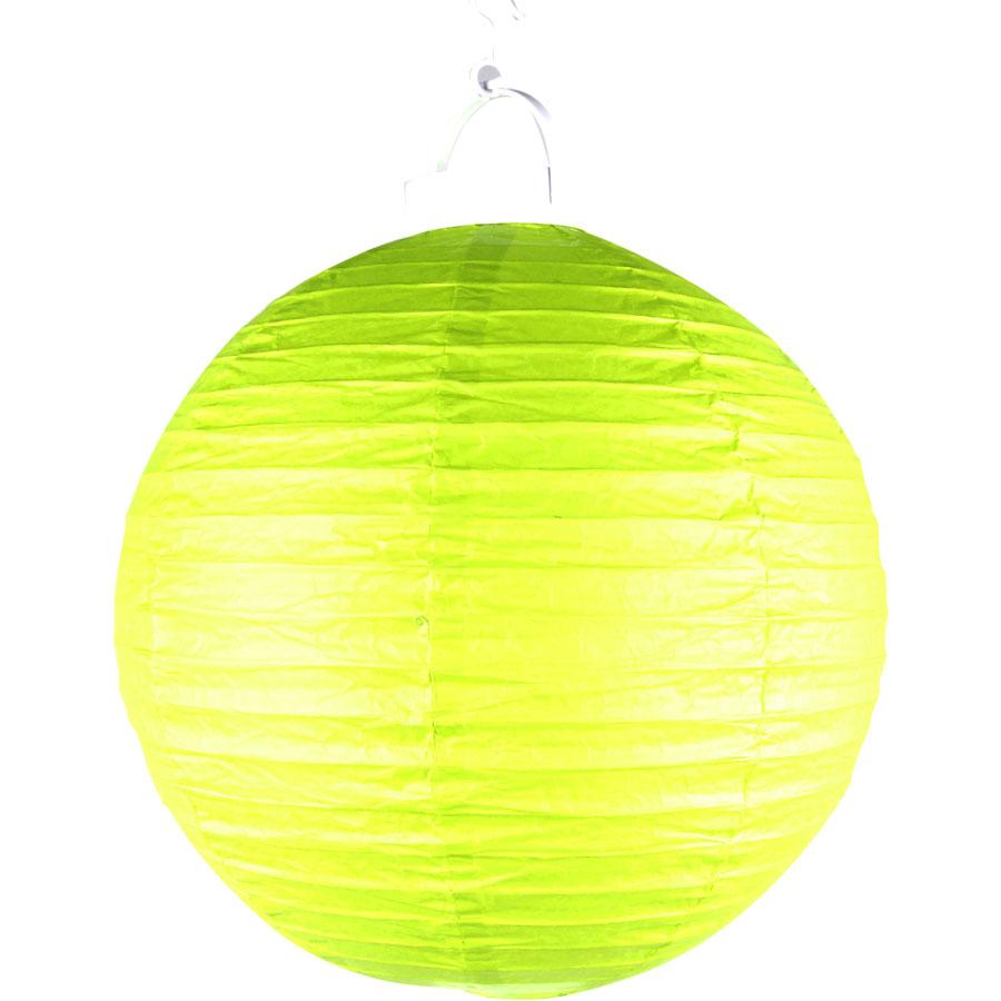 Luminária Com Luz De Papel Verde