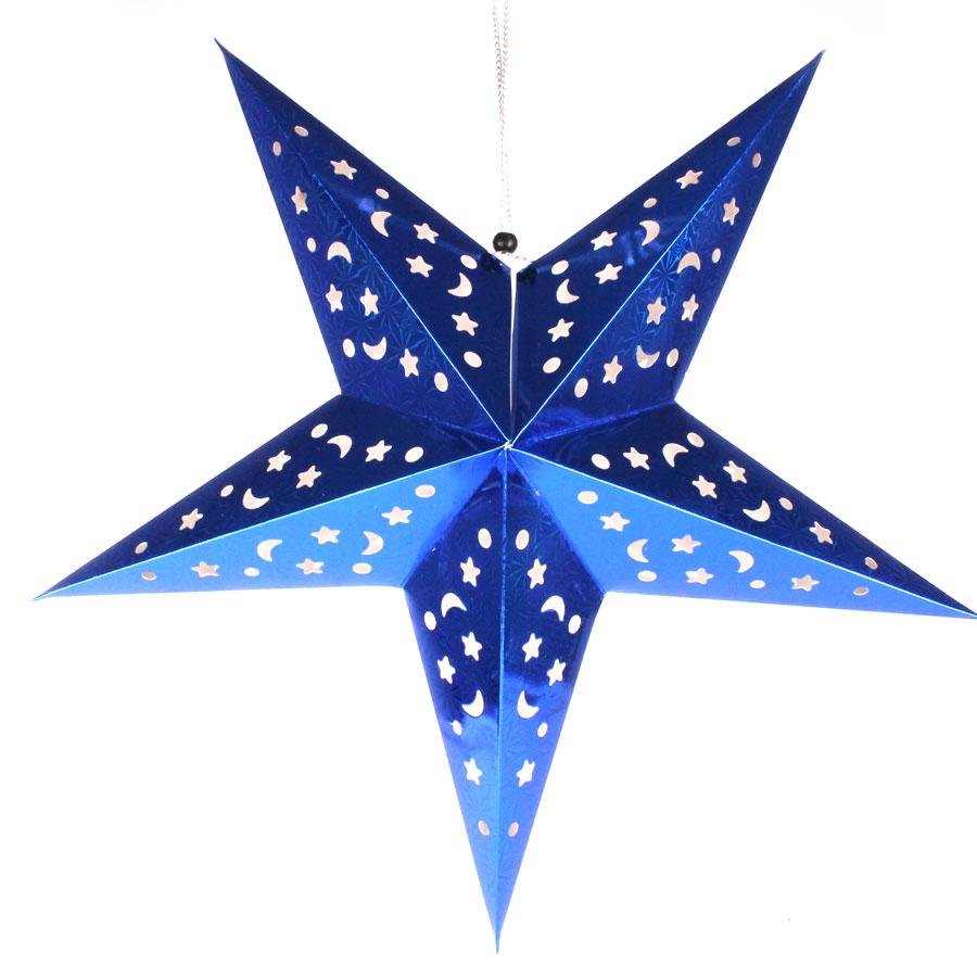 Luminária Grande Estrela Azul