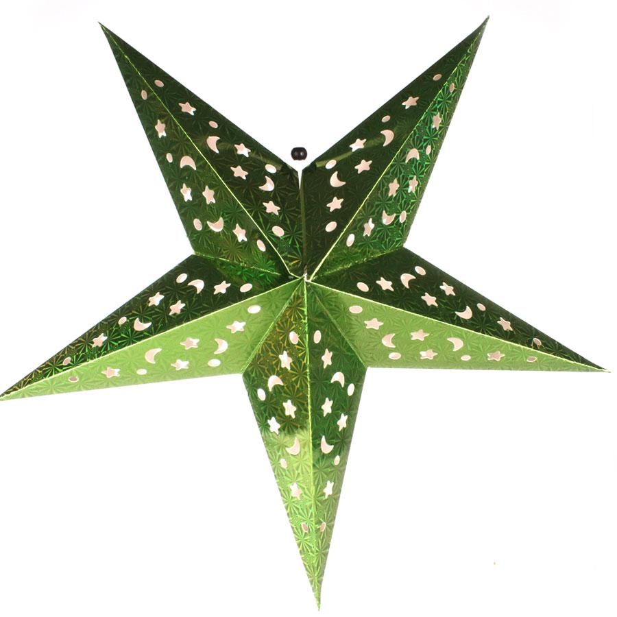 Luminária Grande Estrela Verde