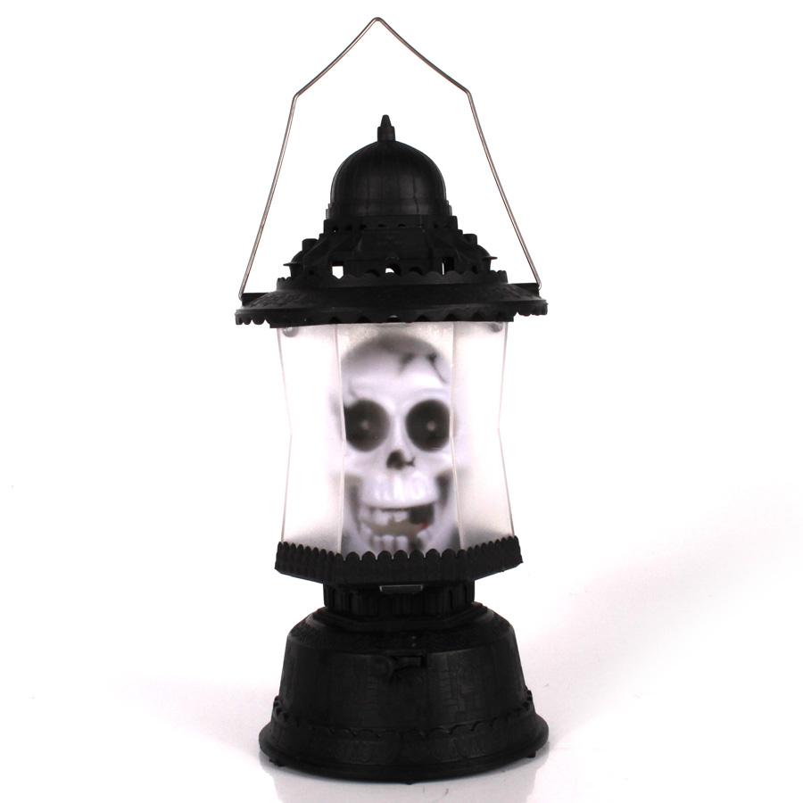 Luminária / Lampião Caveira Com Som E Luz