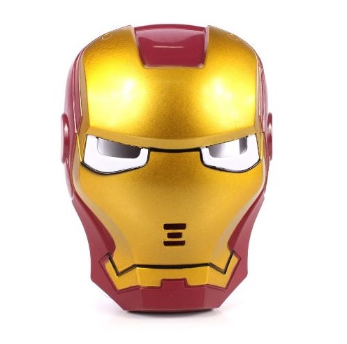 Máscara Homem De Ferro Com Luz