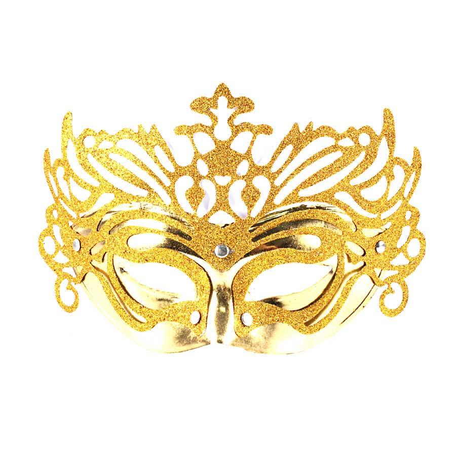 Máscara Veneziana Luxo Dourada
