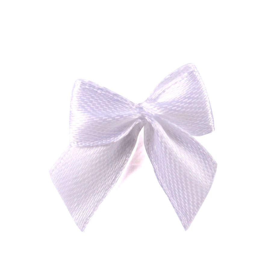 Mini Laço Gordinho Branco - 50Un