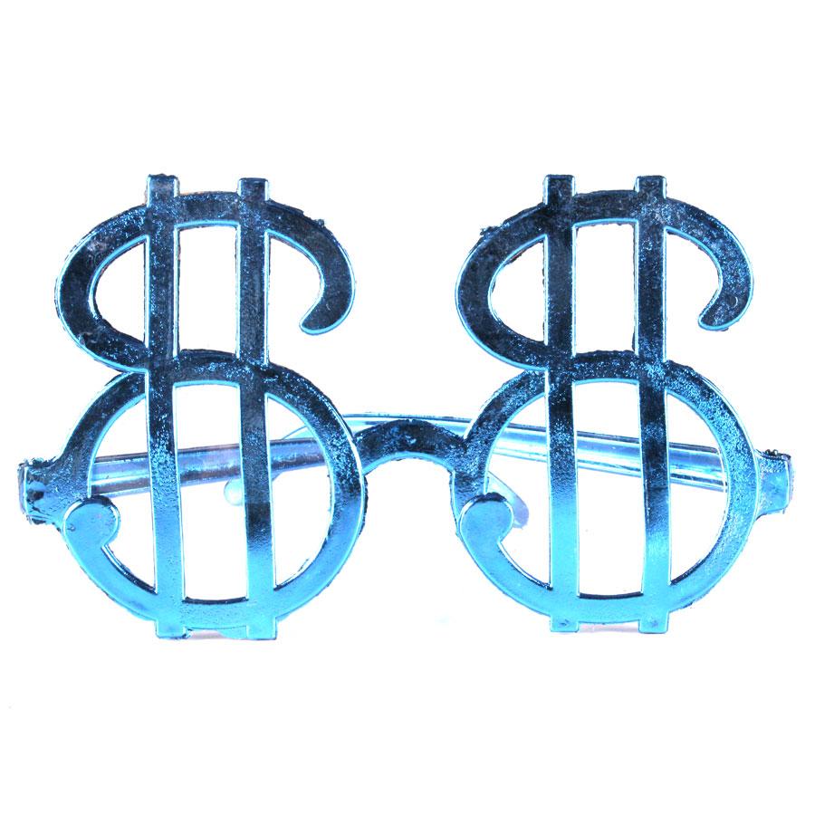 Óculos Chic Cifrão Metalizado