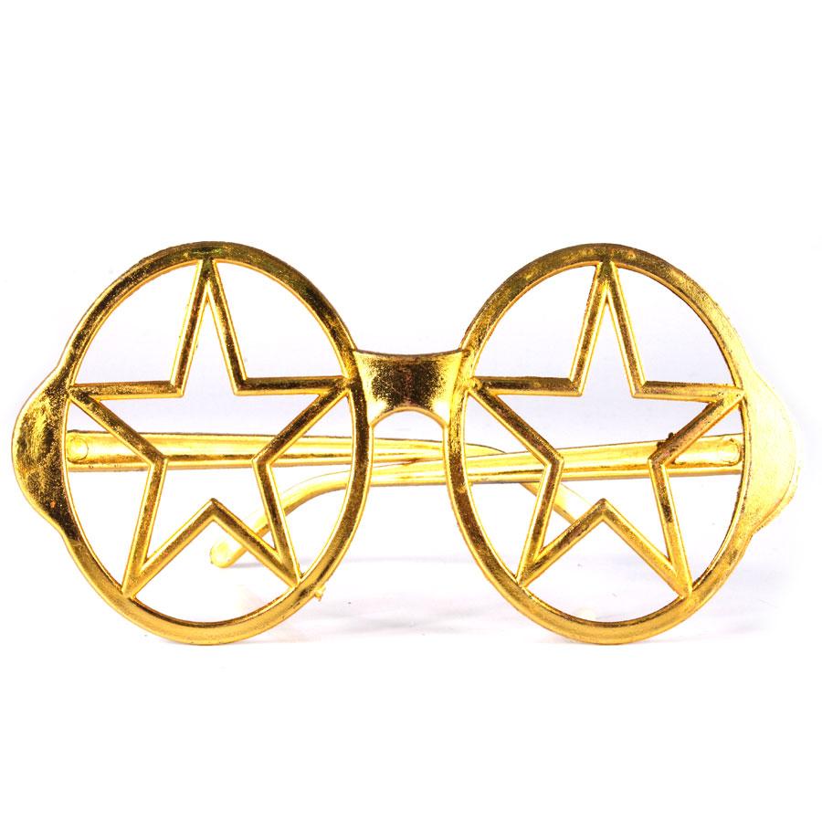 Óculos Chic Estrela Vazada Metalizada