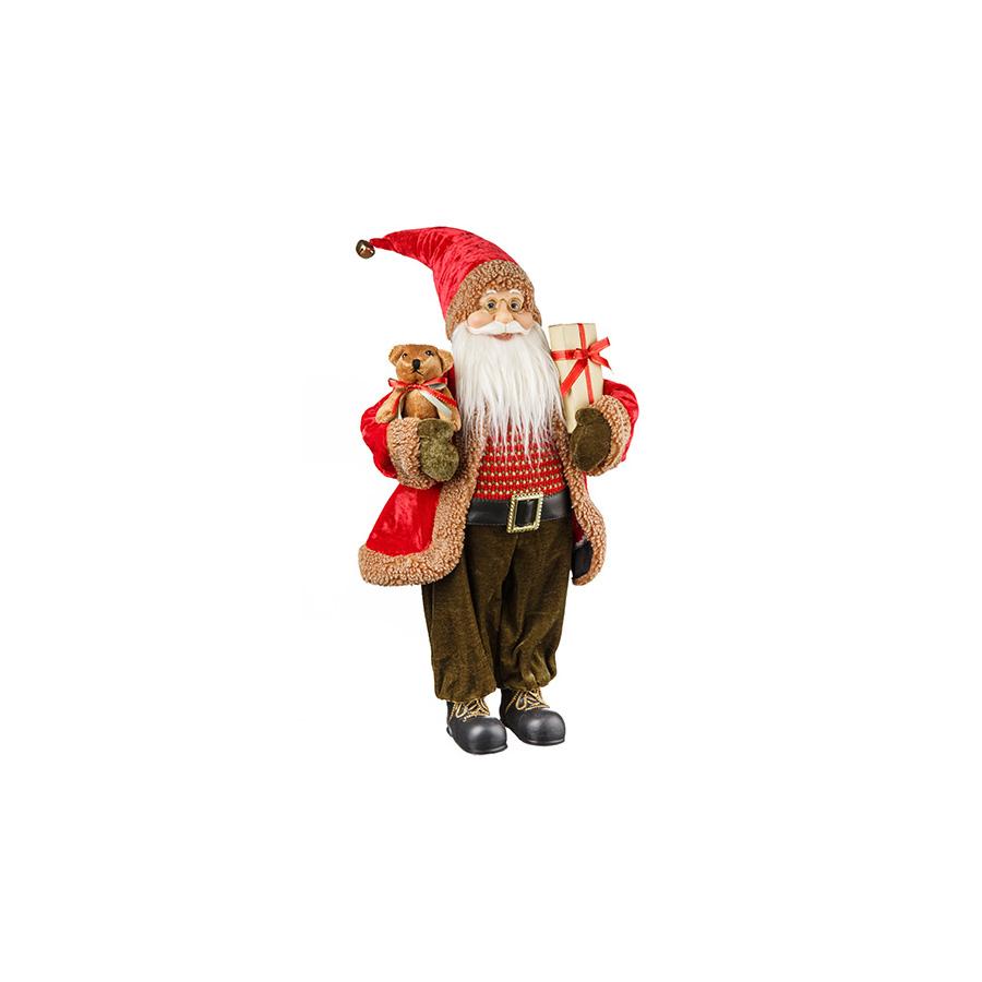 Papai Noel Presente Realista Forest 45Cm