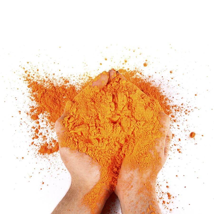 Pó Colorido Para Festas Holi - Laranja