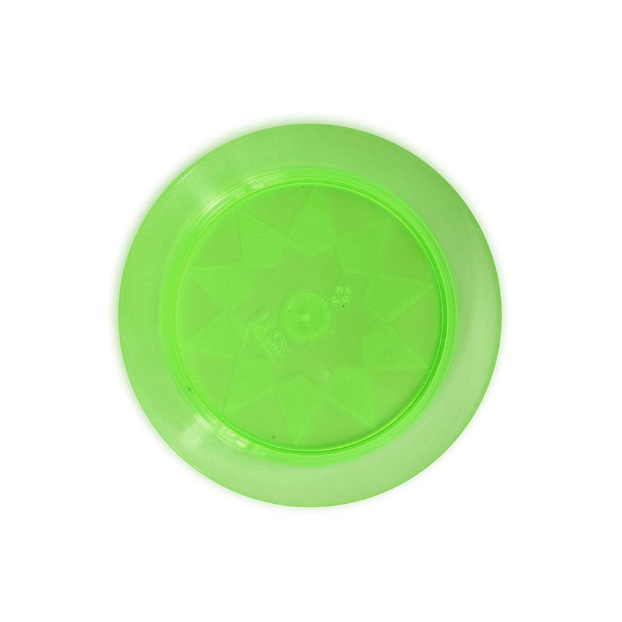 Prato Acrílico Redondo 15Cm 10Un Verde Neon