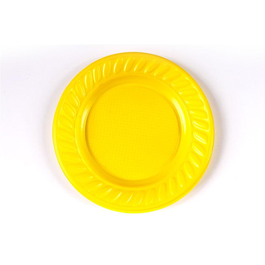 Prato Descartável 15Cm 10Un Amarelo