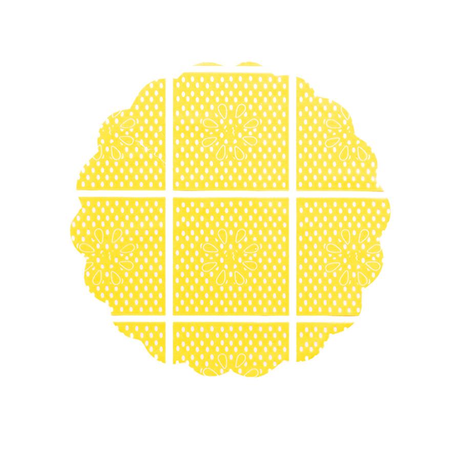 Tapetinho 9Cm Amarelo 100Un
