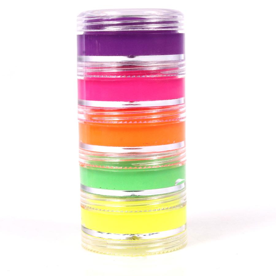 Tinta Facial Neon Com 5 Cores