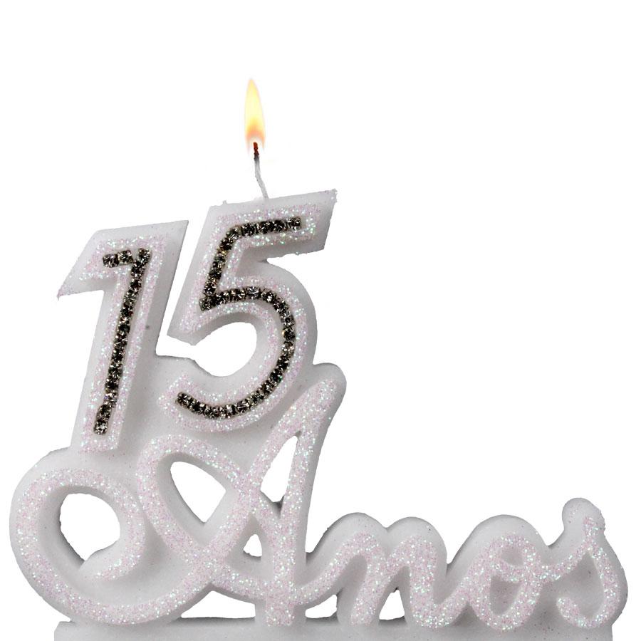 Vela 15 Anos Branca