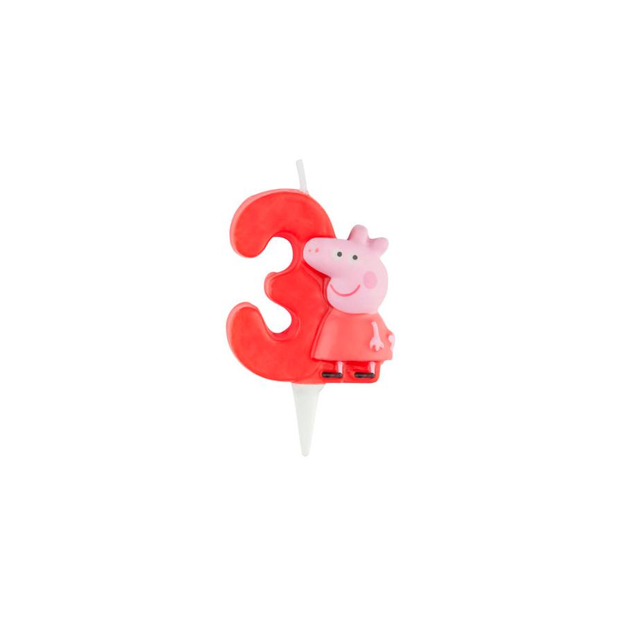 Vela 3D Peppa Nº3