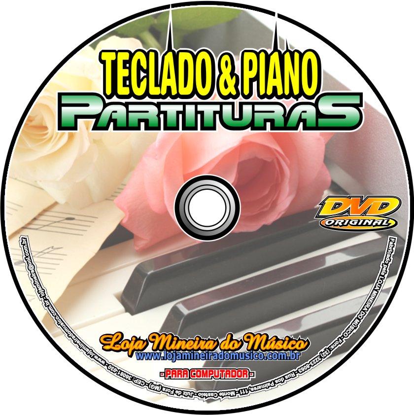 12500 Partituras de Teclado e Piano em DVD