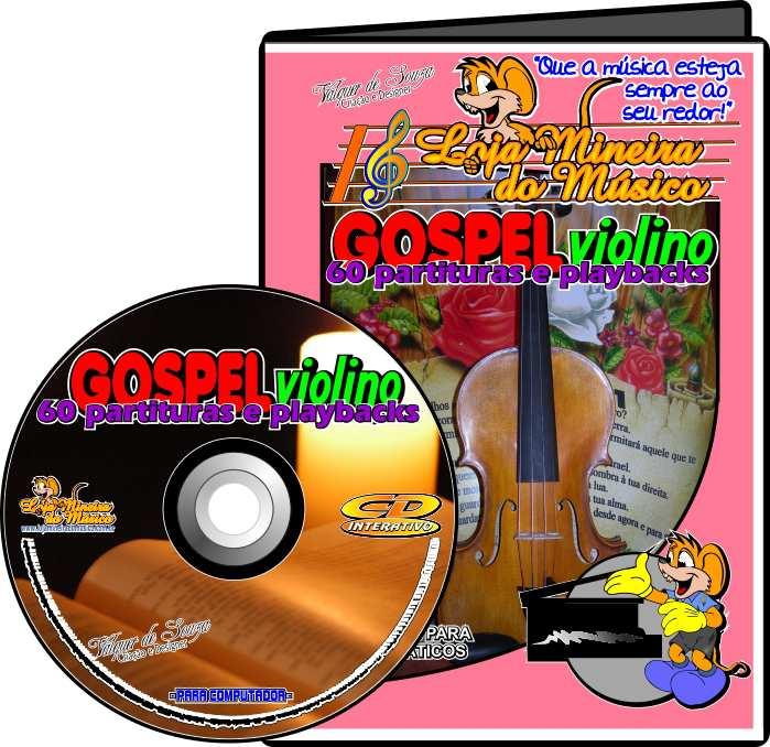FLAUTA ou VIOLINO 60 Partituras Gospel com Playbacks Gospel | Hinos Evangélicos