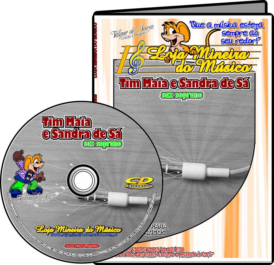 SAX TENOR ou SOPRANO Partituras de Tim Maia e Sandra de Sá Playbacks MP3 e Midis