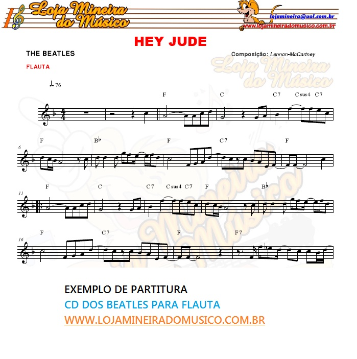 VIOLINO ou FLAUTA Partituras dos BEATLES com Playbacks MP3 e Midis