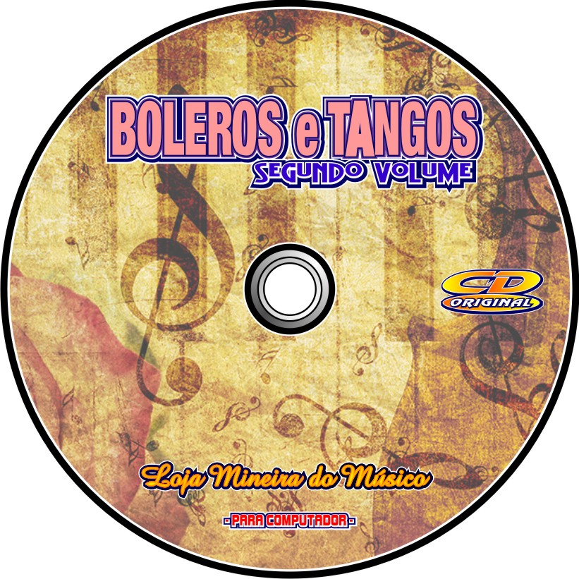 BOLEROS E TANGOS Partituras Midis e Playbacks CD 2em1