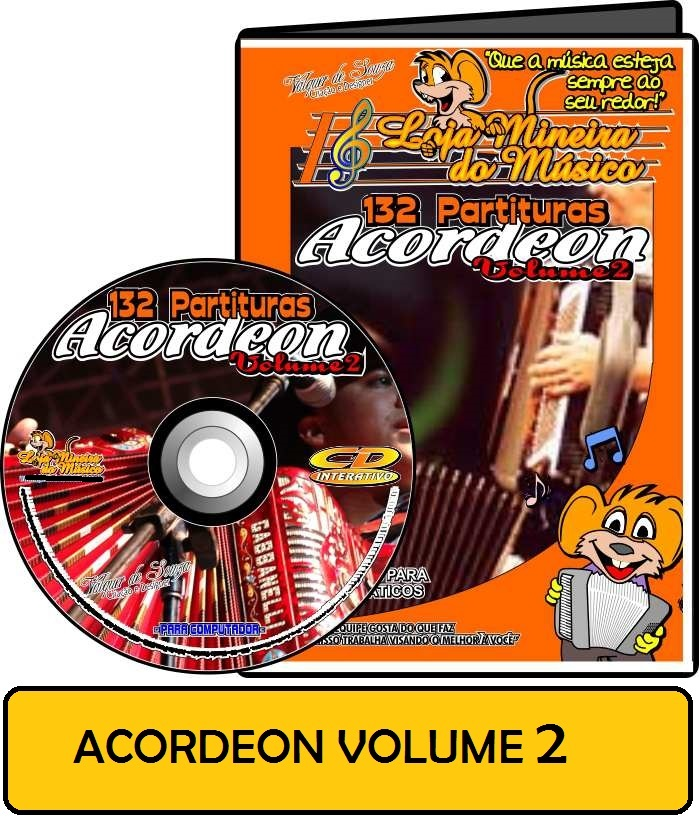 Partituras de músicas para Acordeon Volume 2