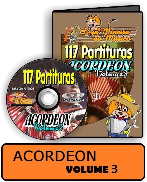 Partituras de músicas para Acordeon Volume 3