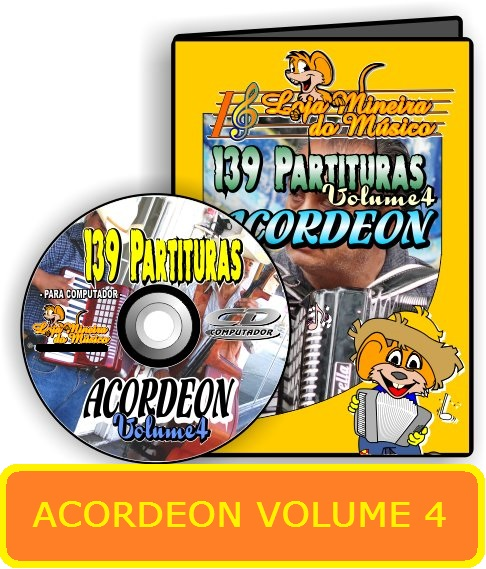 Partituras de músicas para Acordeon Volume 4