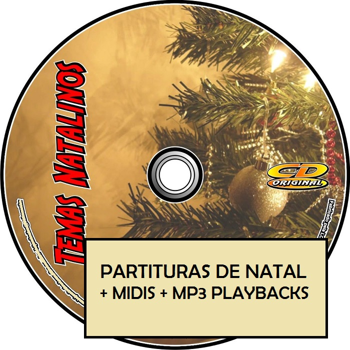 PARTITURAS DE NATAL + MIDIS + PLAYBACKS (por E-mail)