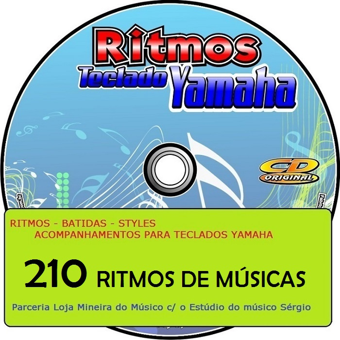 Ritmos de Músicas Específicas para Teclado Yamaha ( 210 Styles de Músicas )