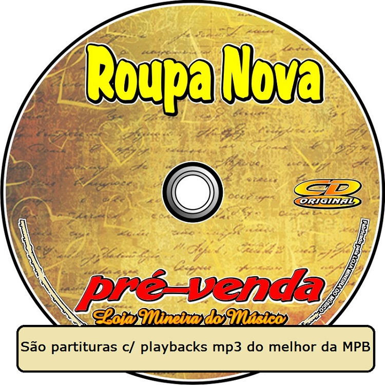 APOSTILA PARTITURAS COM MIDI E PLAYBACKS ROUPA NOVA