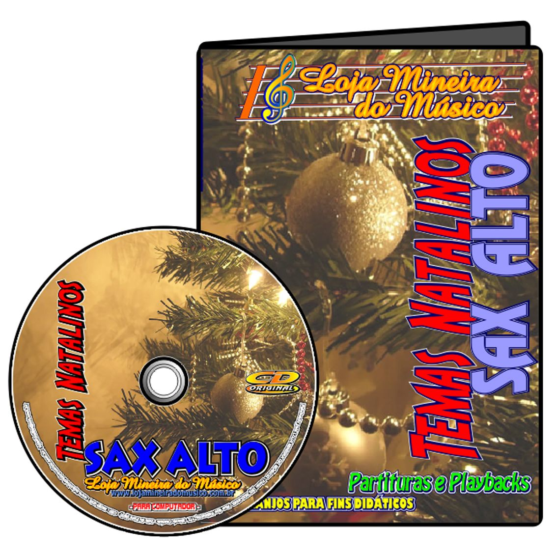 Sax Alto Partituras de Natal com Midi e MP3 Playbacks Natalinos
