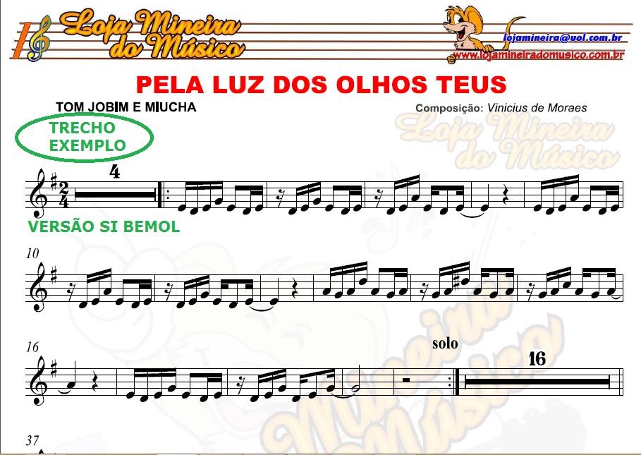BOSSA NOVA E SAMBA SAX ALTO Partituras com Playbacks Sax Eb