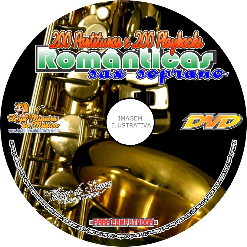 Sax Soprano 200 Partituras Românticas + 200 Playbacks