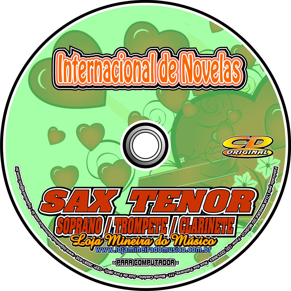 SAX TENOR | SOPRANO Internacionais de Novela Partituras e Playbacks Internacionais MP3