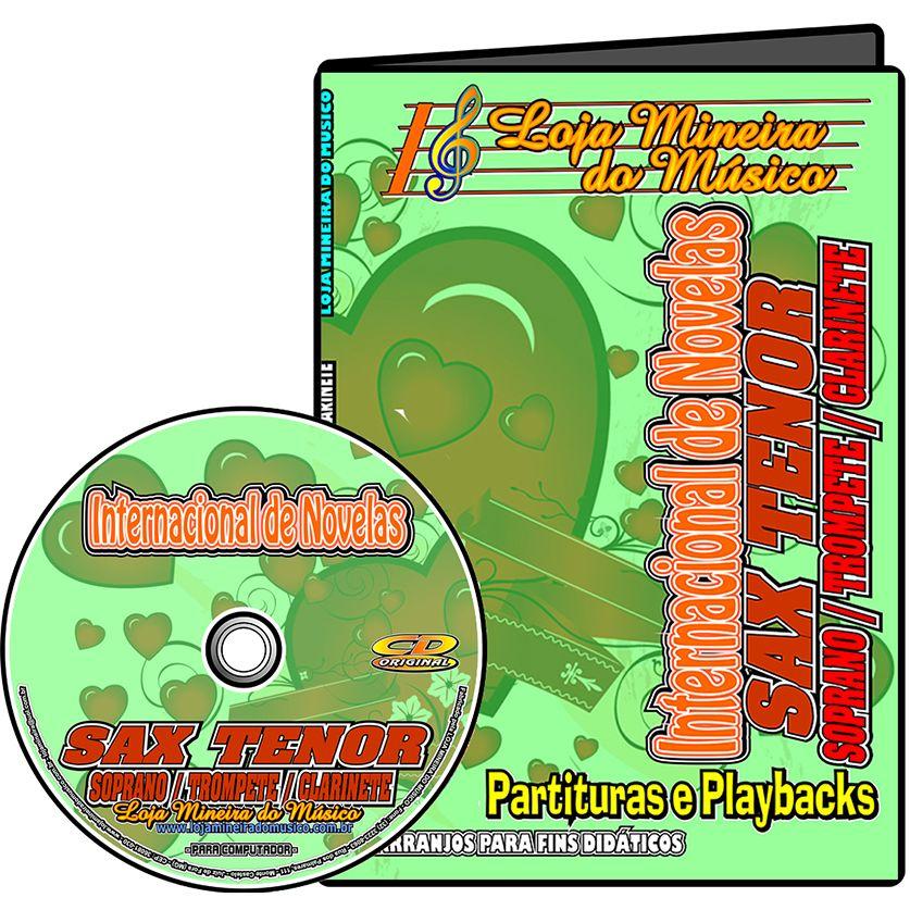 SAX TENOR SAX SOPRANO Internacionais de Novela Partituras e Playbacks Internacionais MP3