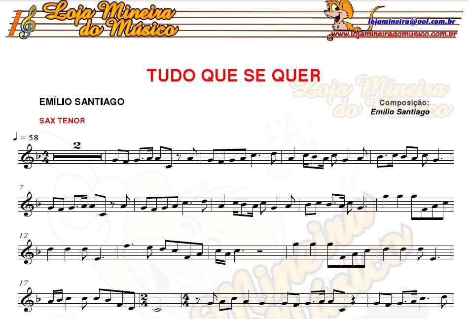 SAX TENOR | SOPRANO Casamento Partituras com Playbacks Casamento de 40 Músicas (Sax Popular e Clássicos)