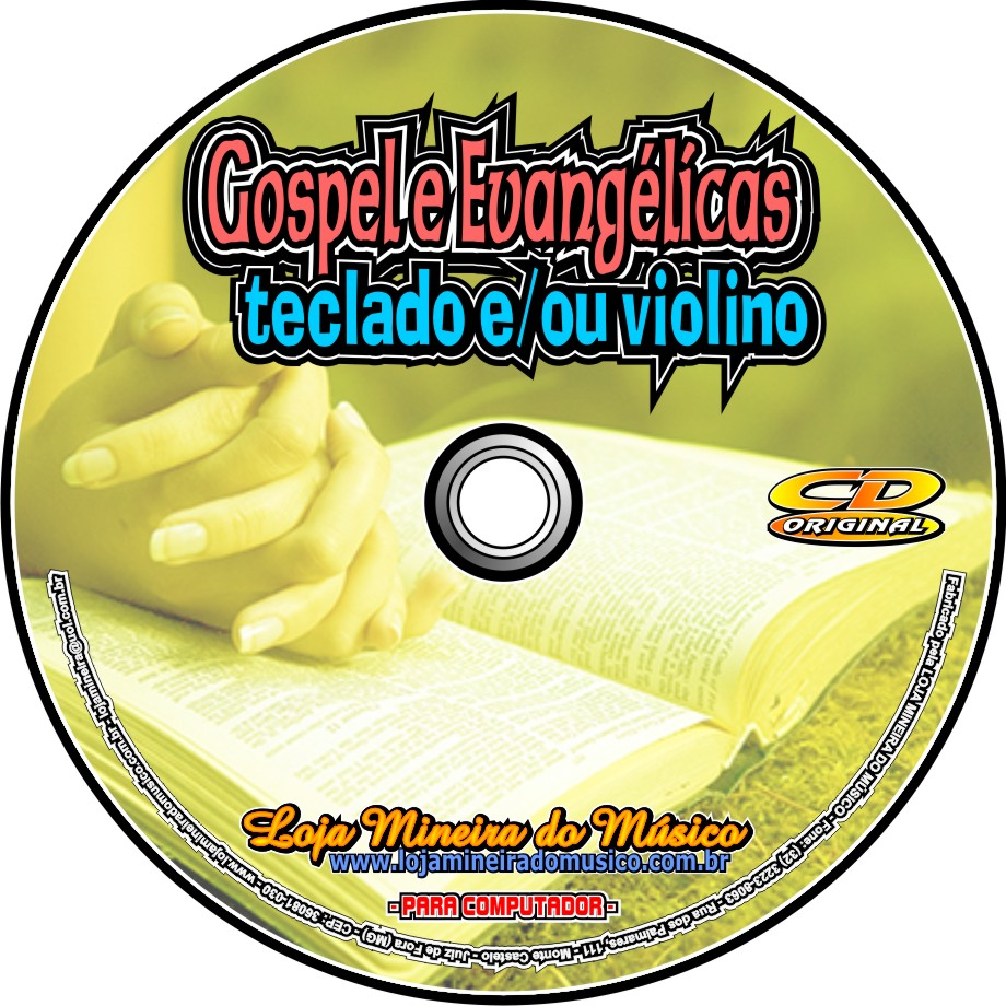 TECLADO Partituras Gospel com 60 Playbacks Gospel | Hinos Evangélicos