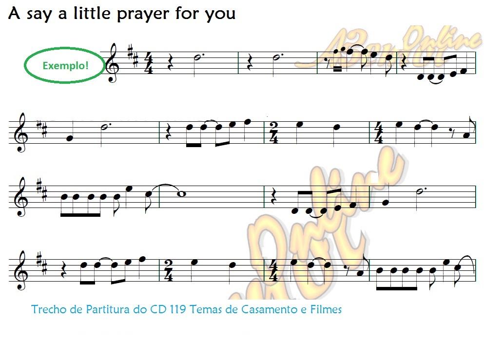 VIOLINO 119 Partituras de Casamento e Variadas Ecléticas com Playbacks Variados (serve também para Flauta)