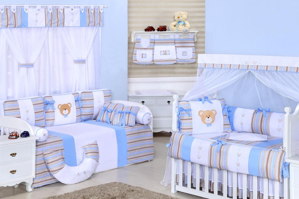 Cortina quarto de Bebe coleção pequeno urso azul