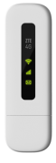 Mini Modem ZTE USB 4G - MF79S - Wi-Fi - Branco - Desbloqueado/Pronto para chip - Wi-Fi Veicular - Ônibus - Vans - Lanchas