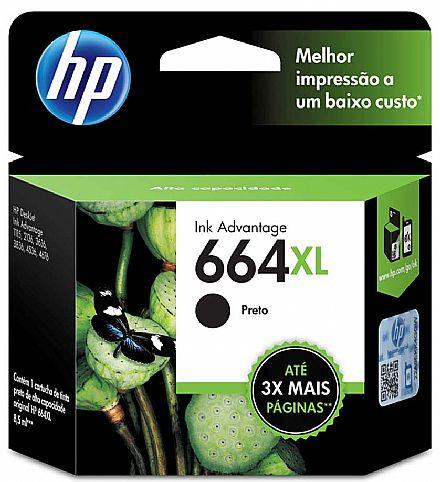 Cartucho HP 664XL preto F6V31AB HP    - Northshop
