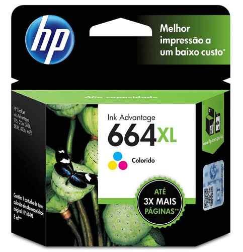 Cartucho HP 664XL colorido F6V30AB HP    - Northshop São Paulo