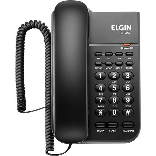 Telefone Elgin Com Fio TCF 2200  - Northshop